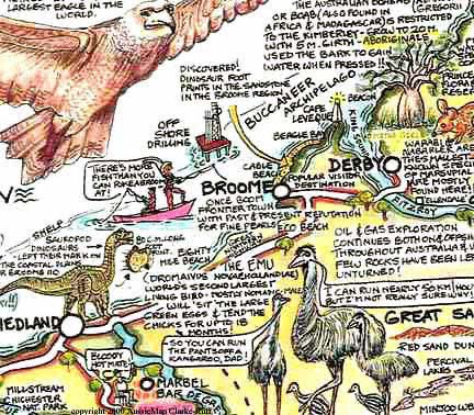 Broome, Derby, Western Australia on the Australian maps - Aussie map